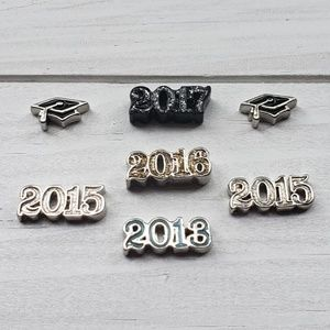 7 Origami Owl Charm Graduation Cap Years 2017 2016